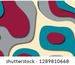 3d abstract background with... | Shutterstock . vector #1289810668