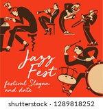 cool vintage vector of jazz... | Shutterstock .eps vector #1289818252