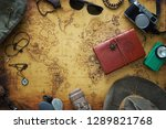old map  vintage travel... | Shutterstock . vector #1289821768
