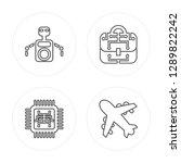 4 line robot  chip  business ...   Shutterstock .eps vector #1289822242