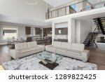 living room and kitchen in new... | Shutterstock . vector #1289822425