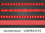 set led realistic red ribbon on ... | Shutterstock .eps vector #1289824192