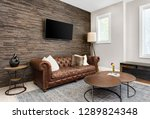 living room interior and den in ... | Shutterstock . vector #1289824348