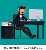 support employee advises...   Shutterstock .eps vector #1289824372