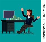 businessman rejoices after...   Shutterstock .eps vector #1289824402