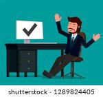 businessman rejoices in the...   Shutterstock .eps vector #1289824405