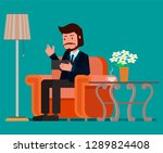 businessman using tablet on the ...   Shutterstock .eps vector #1289824408