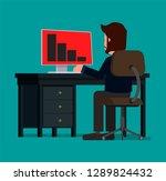 a businessman panics at the...   Shutterstock .eps vector #1289824432