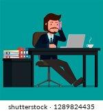 businessman talking on the...   Shutterstock .eps vector #1289824435