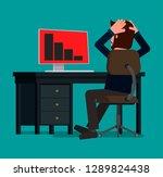 a businessman panics at the...   Shutterstock .eps vector #1289824438