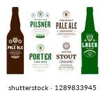 beer labels and bottle mockup... | Shutterstock .eps vector #1289833945