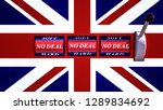 no deal brexit in an english... | Shutterstock . vector #1289834692