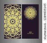 line art business card for...   Shutterstock .eps vector #1289835145