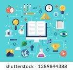 tutorial  e learning  distance...   Shutterstock .eps vector #1289844388