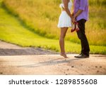 young couple in love  lovers... | Shutterstock . vector #1289855608