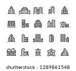 building line icons. business... | Shutterstock .eps vector #1289861548