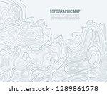 contour line map. elevation... | Shutterstock .eps vector #1289861578
