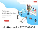 isometric flat vector landing... | Shutterstock .eps vector #1289862658