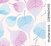 high detail skeleton leaf...   Shutterstock .eps vector #1289863435