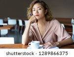 thoughtful blogger thinking...   Shutterstock . vector #1289866375