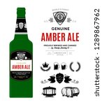 beer label on bottle. amber ale ... | Shutterstock .eps vector #1289867962