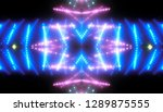 abstract shiny blue background... | Shutterstock . vector #1289875555