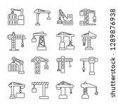 Set Of Crane Related Vector...