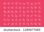 collection of line white icons... | Shutterstock .eps vector #1289877085