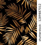 seamless pattern. gold fern... | Shutterstock .eps vector #1289887012