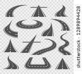 road curves. straight and...   Shutterstock .eps vector #1289894428