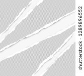 ripped squared grey paper for... | Shutterstock .eps vector #1289896552