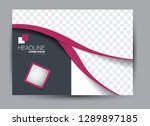 landscape wide flyer template.... | Shutterstock .eps vector #1289897185