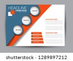 landscape wide flyer template.... | Shutterstock .eps vector #1289897212
