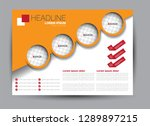 landscape wide flyer template.... | Shutterstock .eps vector #1289897215
