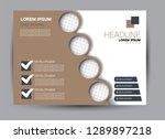 landscape wide flyer template.... | Shutterstock .eps vector #1289897218