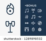 melody icon set and quaver with ...