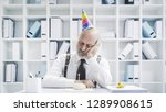 senior businessman having a sad ... | Shutterstock . vector #1289908615