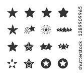 vector set of star icons. | Shutterstock .eps vector #1289909965