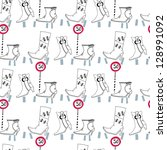 seamless pattern with shoes | Shutterstock .eps vector #128991092