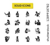 people icons set with artist ...