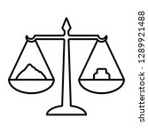 scales with weight line icon.... | Shutterstock .eps vector #1289921488