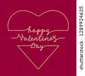 happy valentines day doodle...   Shutterstock .eps vector #1289924635
