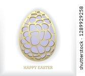 unusual easter egg design on... | Shutterstock .eps vector #1289929258