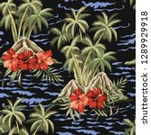 hawaiian vintage island  palm... | Shutterstock .eps vector #1289929918