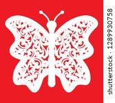 Stock vector cutout butterflies for laser cutting butterflies silhouettes 1289930758