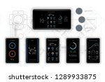 template mobile application ... | Shutterstock .eps vector #1289933875