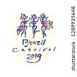 brazil carnival 2019 art logo.... | Shutterstock .eps vector #1289935648
