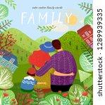 happy family. cute vector... | Shutterstock .eps vector #1289939335