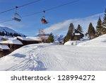 ski lift on the alpine resort | Shutterstock . vector #128994272