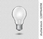 realistic vector transparent... | Shutterstock .eps vector #1289964058
